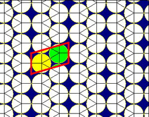 Elongated triangular tiling - Image: Elongated triangular tiling circle packing