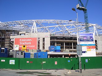 Emirates Stadium - The Emirates Stadium under construction in May 2005