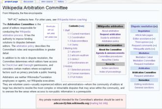 Arbitration Committee of the English Wikipedia - Image: En Arb June 2009