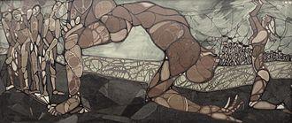 Jahar Dasgupta - 1975 work 'End of an era' by Jahar Dasgupta