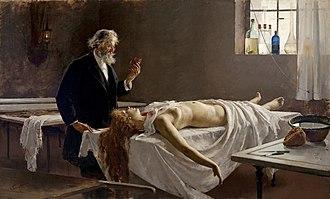 Natural history of disease - Autopsy (1890) by Enrique Simonet.