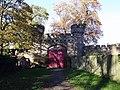 Entrance Gate to Hawarden Castle, Glynne Way (S Side).jpg