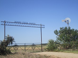 Medina County, Texas - Image: Entrance to Hondo Creek Ranch, Medina County, TX IMG 3312