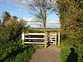 Entrance to new path and cycle track - geograph.org.uk - 1022990.jpg