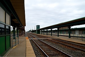 Union Station (Erie, Pennsylvania) - Amtrak platforms at Union Station in May 2015