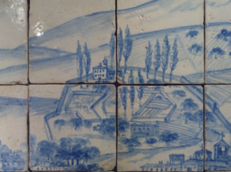Necessidades Palace - The Chapel of Our Lady of Needs, in an early 17th-century tile panel.