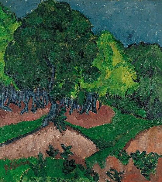 File:Ernst Ludwig Kirchner - Paisaje con castaño.jpg