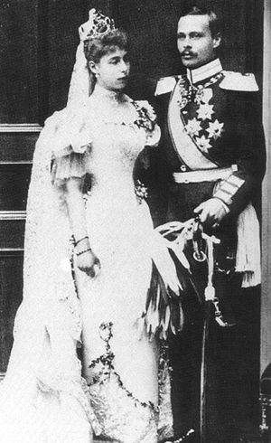 Princess Victoria Melita of Saxe-Coburg and Gotha - Victoria Melita and Ernst Ludwig at their marriage in 1894