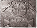 Etchmiadzin Cathedral cross relief with Greek inscriptions.png