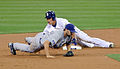Everth Cabrera slides into 2nd during a game against the Dodgers on July 27, 2010.jpg