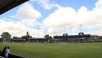 Hyde, Greater Manchester - Ewen Fields the home of Hyde United F.C.