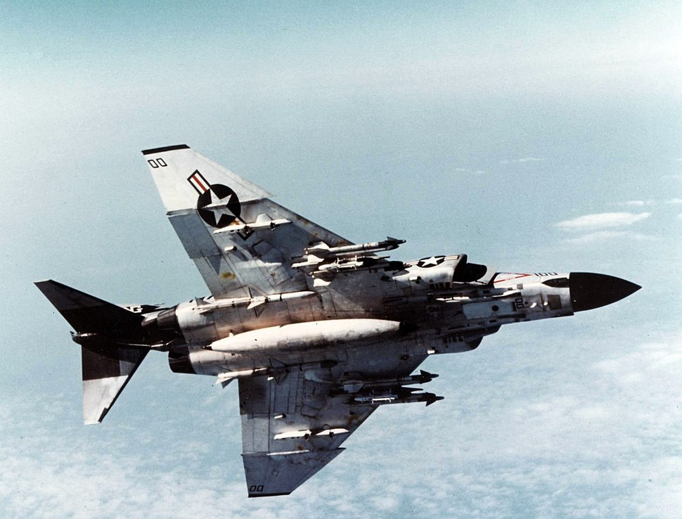 F-4J VF-96 Showtime 100 armed from below