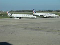 F-HMLG + F-HBLJ - Lyon - 2011-11-11 - IMG 1144.JPG