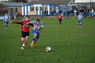 FA Vase - Whitley Bay take on Abbey Hey in an FA Vase match in 2008.