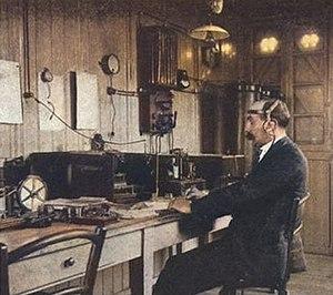 Le Conquet radio - FFU operator at work in 1904