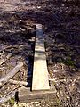 FLT M19 4.4 mi - Puncheon, two 2x10x8' at power line, RR tie sills - panoramio.jpg