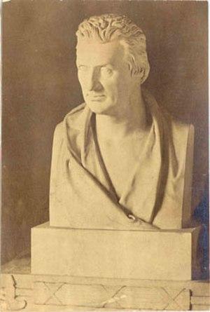 Francis Noel Clarke Mundy - Mundy's bust by Francis Legatt Chantrey.