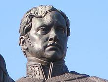 Friedrich Wilhelm III., Kopf der Reiterstatue vom Heumarkt in Köln (kriegsbeschädigt) (Quelle: Wikimedia)