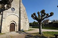 Façade ouest église Saint-Aignan mare Goussainville Eure-et-Loir France.jpg