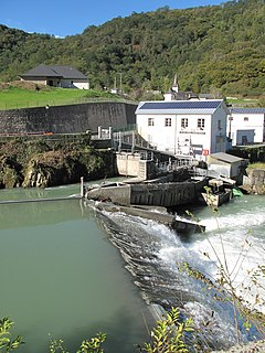 hydroelectric project at the local level with a few MW production