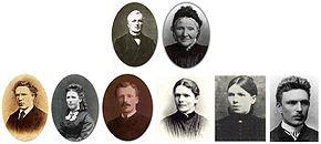 Photomontage de la famille de Vincent van Gogh.