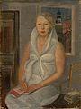 Female portrait by Boris Grigoriev (GTG, 1930s).jpg