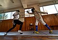 Fencing. Epee. Fencing training at Athenaikos Fencing Club.jpg