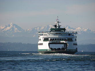 Bainbridge Island, Washington - The ferry Wenatchee en route from Seattle to Bainbridge Island
