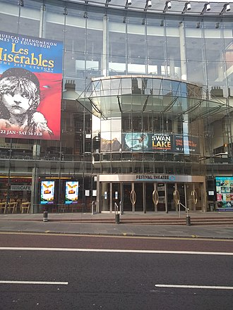 Edinburgh Festival Theatre - The theatre prior to a production of Les Misérables.
