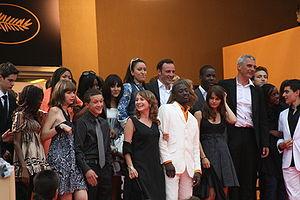 Actors of movie Entre les murs at Cannes Film ...