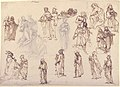 Figure Studies- Standing and Kneeling Clerics and Religious, Adam and Eve, and a Reclining Skeleton MET 66.93.4.jpg