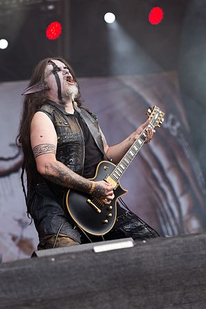 "Finntroll - Guitarist Mikael ""Routa"" Karlbom at Rockharz 2016"
