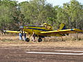 Firefighting Air Tractor VH-ODQ at Coomalie Airstrip August 2010.jpg