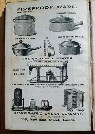Kitchen utensil - The up-to-date kitchen fireproof ware in 1894