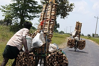 Tamil Eelam - Fire-wood sellers in Batticaloa district