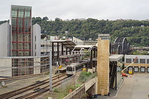 First Avenue (PAT station) - Image: First Avenue Station, Pittsburgh 2