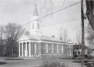 Geneseo, Illinois - The First Congregationalist Church in Geneseo, Illinois, circa 1910