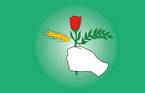 1979 Kurdish rebellion in Iran - Image: Flag of PUK