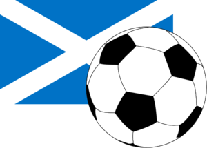 2017–18 in Scottish football - Image: Flag of Scotland with football