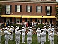 Flickr - Official U.S. Navy Imagery - VIP's watch as the U.S. Navy's Ceremonial Band plays for a gathering of U.S. Naval Academy football supporters..jpg