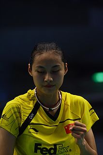 Wang Yihan Badminton player