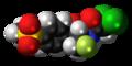 Florfenicol molecule spacefill.png