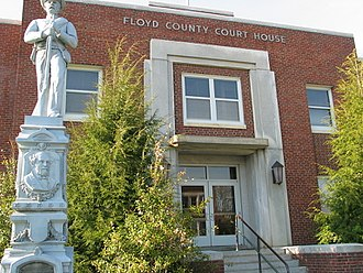 Floyd County, Virginia - Image: Floyd Co CH