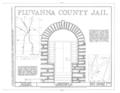 Fluvanna County Jail, Palmyra, Fluvanna County, VA HABS VA,33-PALMY,1-; (sheet 1 of 9).png