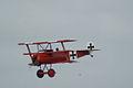 Fokker Dr.I Manfred Richthofen Pass two 02 Dawn Patrol NMUSAF 26Sept09 (14599912765).jpg