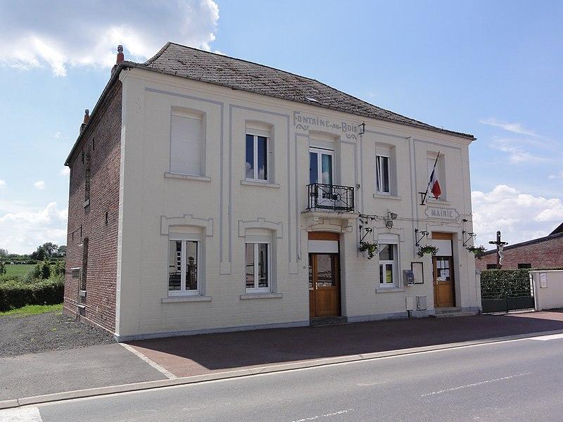 Fontaine-aux-Bois (Nord, Fr) mairie-école