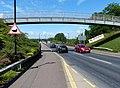 Footbridge across the A5189, Stapenhill (geograph 4543583).jpg