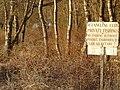 Forest and sign, near Lochaber Loch - geograph.org.uk - 692123.jpg