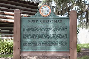 Fort Christmas - Fort Christmas Historical Park - Historical Marker