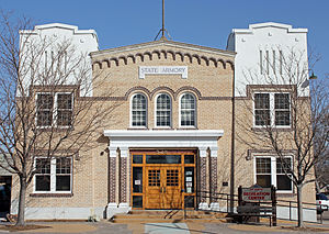 Fort Morgan, Colorado - The Fort Morgan State Armory is used as a town recreation center.